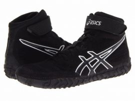 asics AGRESSOR 2 (fekete) birkózó cipő