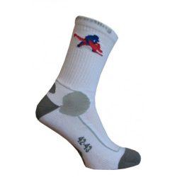 Berkner BIG zokni fehér-szürke