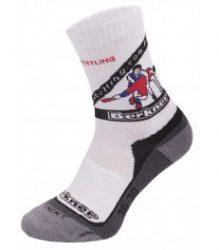 Berkner zokni fehér-fekete-szürke