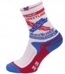 Berkener zokni fehér-kék-piros